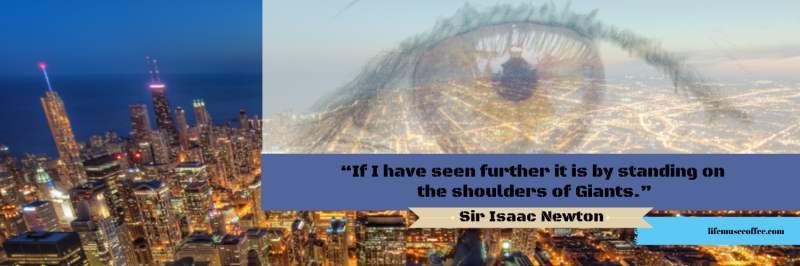 """If I have seen further it is by (5)"
