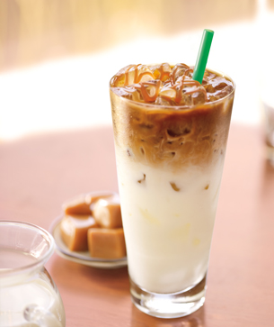 Shown Above:  Starbucks Iced Caramel Macchiato HIGHLY recommended